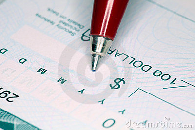 Writing Cheque
