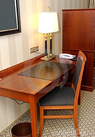 Writing Desk in Hotel Room