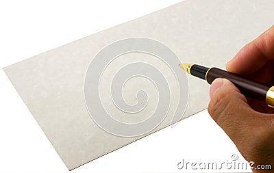Writing envelope