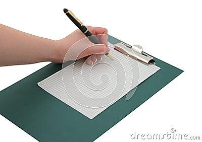 Writing hand #2
