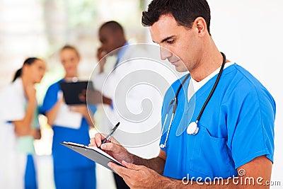 Writing medical report