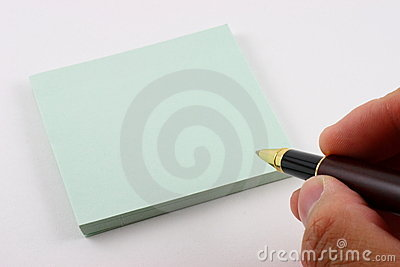 About to write on post it note