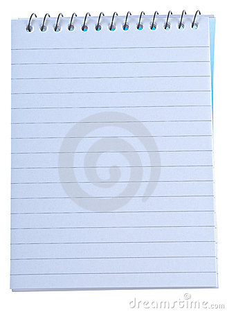 Writing note pad with spiral binding