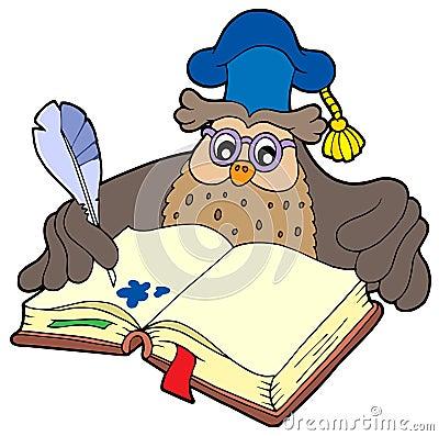 Writing owl teacher