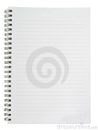 Writing pad with lines
