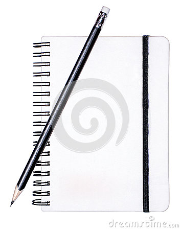 Writing pad with a pencil