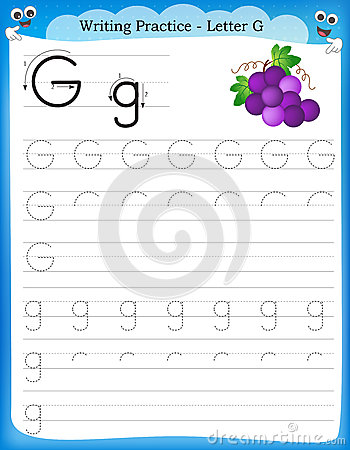 practice letter G printable worksheet for preschool / kindergarten ...