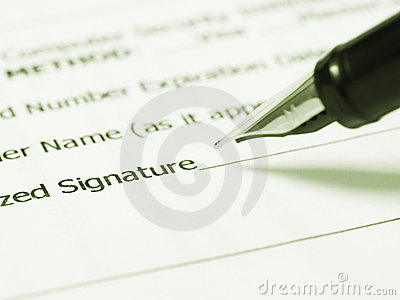 Writing signature