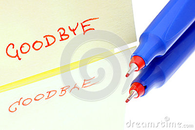 Written wink goodbye.