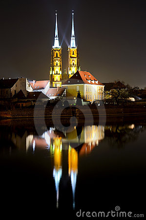 Free Wroclaw At Night Royalty Free Stock Photos - 19164238