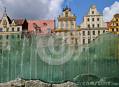 Wroclaw -glass  fountain