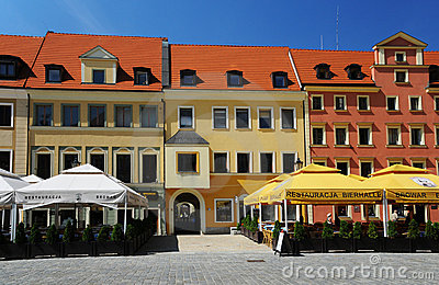 Wroclaw - lado oeste do mercado Imagem de Stock Editorial