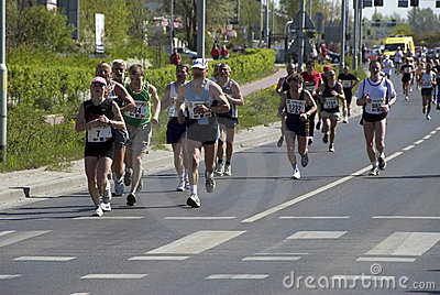 The Wroclaw marathon Editorial Image