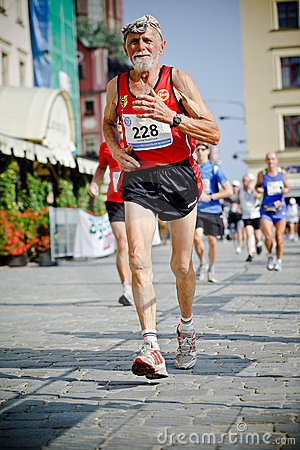Wroclaw Marathon runners Editorial Photo