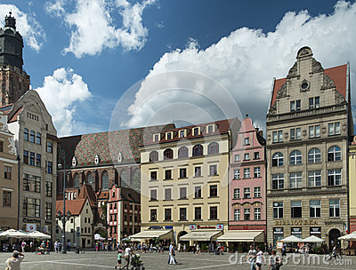Wroclaw - market place Editorial Image