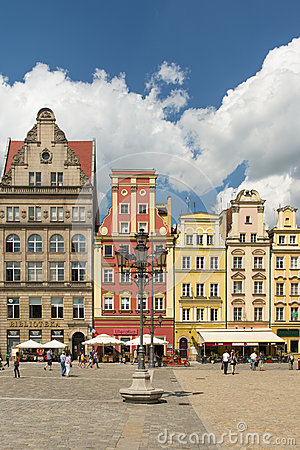 Wroclaw - market place Editorial Stock Photo