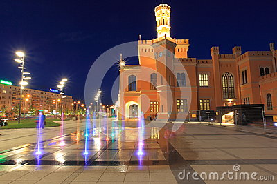 Wroclaw at night Editorial Stock Image
