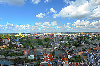 Wroclaw - panorama with chimney
