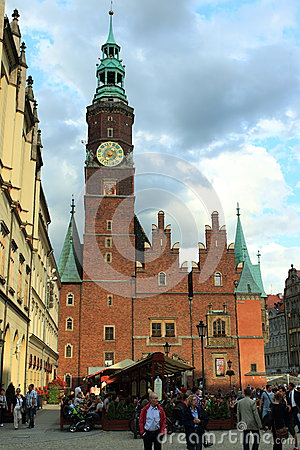 Wroclaw town hall Editorial Photo