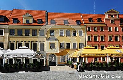 Wroclaw - Westseite des Marktes Redaktionelles Stockbild