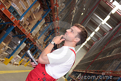 Wroker in warehouse
