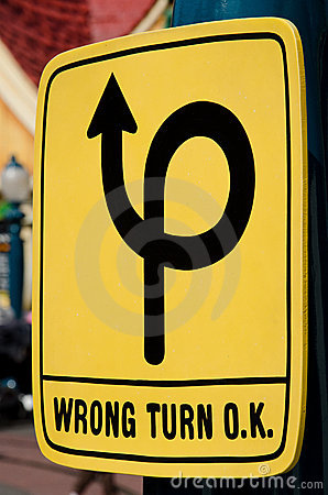 Free Wrong Turn Stock Photography - 23650902