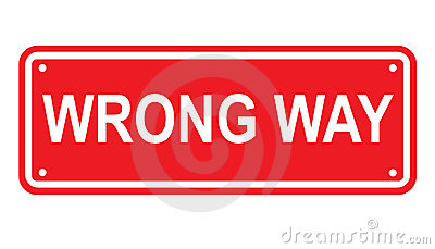 Wrong way or no entry sign or symbol