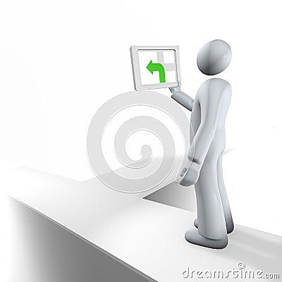 Free Wrong Way Turn - GPS Maps Stock Image - 8011541