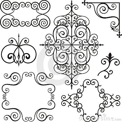 Free Wrough Iron Ornaments Royalty Free Stock Photo - 3739395