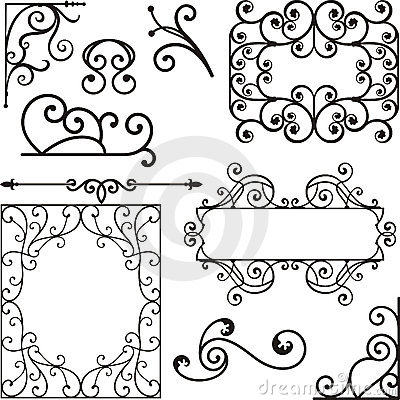 Free Wrough Iron Ornaments Royalty Free Stock Photo - 3739415