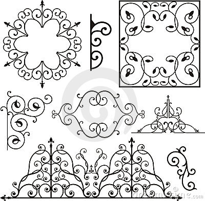 Free Wrough Iron Ornaments Royalty Free Stock Photos - 3739428