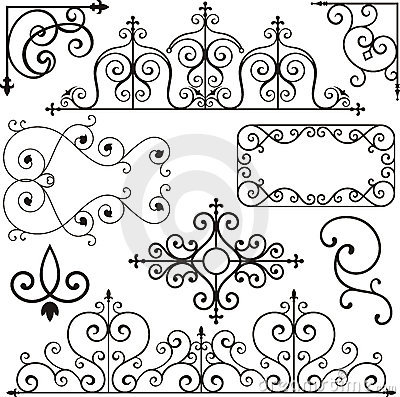 Free Wrough Iron Ornaments Stock Photography - 3739492