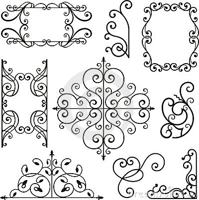 Free Wrough Iron Ornaments Stock Images - 3739504