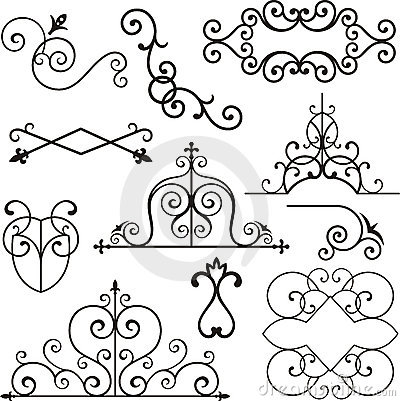 Wrough iron ornaments