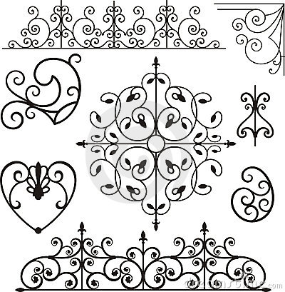 Free Wrough Iron Ornaments Royalty Free Stock Photos - 3739608