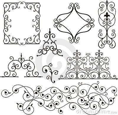 Free Wrough Iron Ornaments Stock Images - 3739684