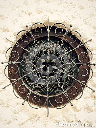 Free Wrought Iron Circular Window Stock Photo - 50826660