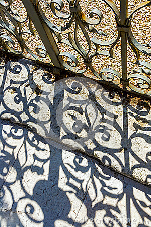 Free Wrought Iron Door To The Garden Stock Images - 36542474