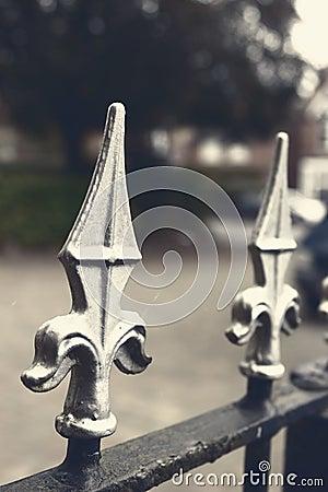 Free Wrought Iron Fence Stock Photo - 44738760