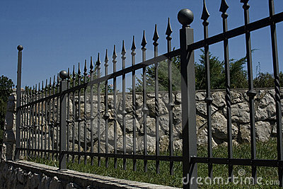 Wrought Iron Fence Royalty Free Stock Photos Image 6171278
