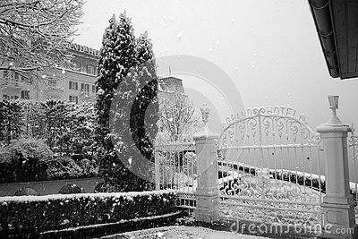 Wrought Iron Gates in Winter
