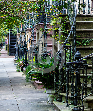 Free Wrought Iron On Old Townhouses Stock Photography - 79040812