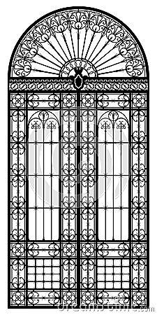 Wrought iron portal