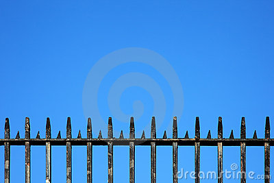 Wrought Iron Railings Background