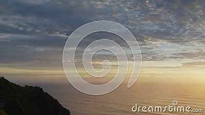 Wschód słońca panning strzał Byron zatoki latarnia morska zbiory