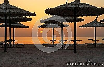 Wschód słońca parasol