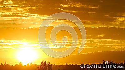 Wschodu słońca czasu upływ