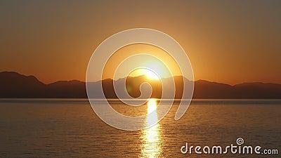 Wschodu słońca timelapse, słońce wzrosta ciepły ranek, noc dzień, zbiory