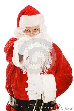 Wskazuje Santa ty
