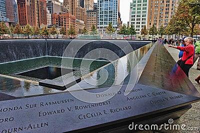 WTC 9-11 Memorial Editorial Image